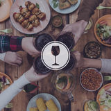 Toast to friendship. Stock Photography