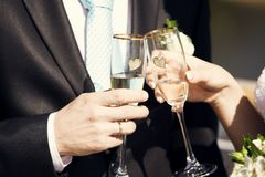 Toast to love Stock Image