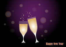Toast to new year. Background with two glass drinking a toast to new year.EPS file available Royalty Free Stock Photography