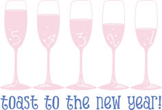 Toast To The New Year Stock Photography