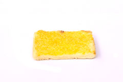Toast. Ed bread for breakfast on white background Stock Photos