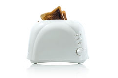 Toast in a toaster  : Clipping path included Stock Photography