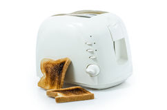 Toast in a toaster  : Clipping path included Stock Images