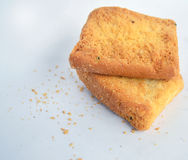 Toast top View. Toast cookies with sugar top View royalty free stock images