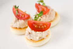 Toast with tuna salad Royalty Free Stock Photo