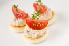 Toast with tuna salad Royalty Free Stock Photo