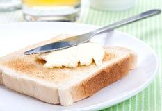 Toast u. Butter Stockfoto