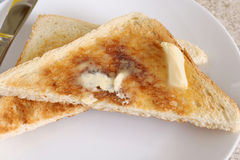 Toast und Butter Lizenzfreie Stockfotos