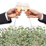 Toast und Vermögen stockbilder