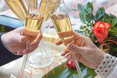 Toast for Valentine day Stock Photography
