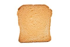 Toast on white Stock Photo