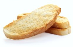 Toast on a white background, Royalty Free Stock Image