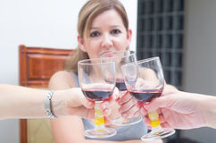 Toast with wine Royalty Free Stock Photography