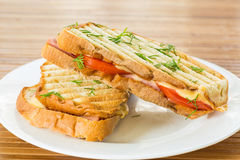 Free Toast With Cheese Royalty Free Stock Photography - 32789487