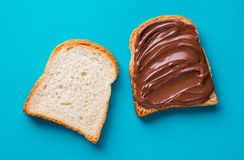 Free Toast With Chocolate Butter Royalty Free Stock Photos - 101220148