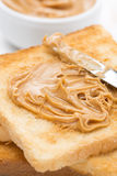 Toast With Peanut Butter, Close-up Stock Image