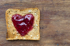 Toast on wood Stock Image