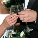 toast za ślub Zdjęcie Royalty Free