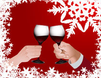 toast za święta ilustracja wektor