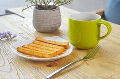 toast za kawowa Obraz Royalty Free