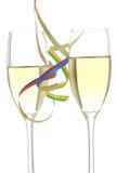toast za szampańska Zdjęcia Royalty Free