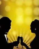 toast za szampańska Zdjęcia Stock