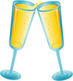 toast za szampańska Obrazy Royalty Free