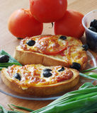 Toast zum Frühstück Stockfoto