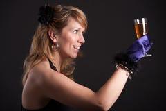 Toast zum newyear Lizenzfreie Stockfotografie