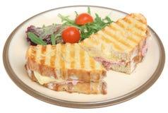 toasted сэндвич с ветчиной сыра Стоковое Изображение RF