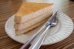toasted сэндвич с ветчиной сыра Стоковые Изображения RF
