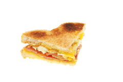 Toasted bacon and egg sandwich Royalty Free Stock Photo