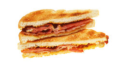 Toasted bacon sandwich Royalty Free Stock Photos