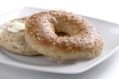 Toasted Bagel Royalty Free Stock Photo