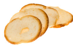 Toasted Bagel Slices Royalty Free Stock Image
