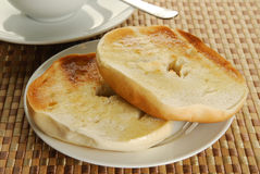 Toasted bagles Stock Images