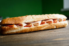 Toasted baguette sandwich with ham Stock Photography