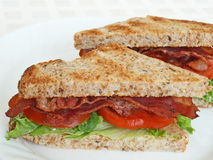 Toasted BLT sandwich stock photo