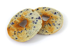 Toasted blueberry bagel Royalty Free Stock Photos