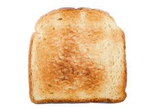 Toasted bread. On the white background royalty free stock images