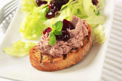 Toasted Bread And Pate Royalty Free Stock Photos