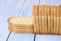 Toasted bread. Royalty Free Stock Photos