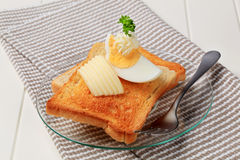Toasted bread and butter Royalty Free Stock Photo