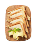 Toasted bread and butter Stock Images
