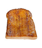 Toasted bread with butter and strew with sugar Stock Photos