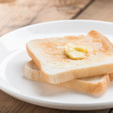 Toasted bread with butter. Royalty Free Stock Photos