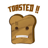Toasted Bread Character Stock Photos