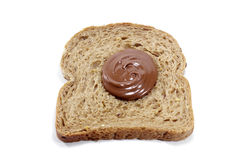Toasted bread with chocolate Stock Photography