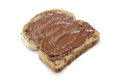 Toasted bread with chocolate Royalty Free Stock Photography