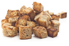 Toasted bread croutons Royalty Free Stock Photos